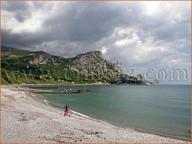 гостиница Голубой Залив Крыма, пляж 1